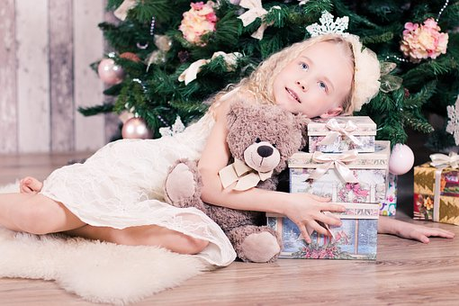 Girl, Baby, New Year's Eve, Christmas, Gift, Holiday