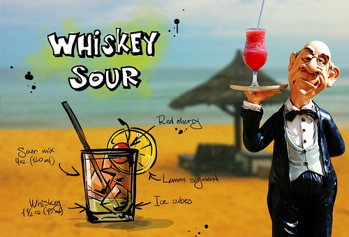 Whiskey Sour, Cocktail, Drink, Operation, Upper, Waiter