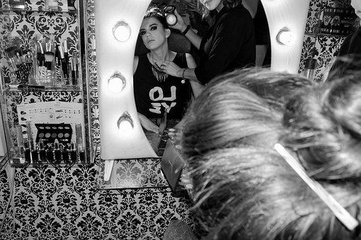 Model, Backstage, Fashion, Makeup, Women