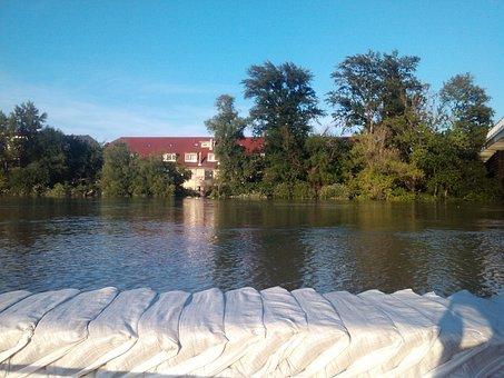 Budapest, Flood, Sand Bags, Danube, River
