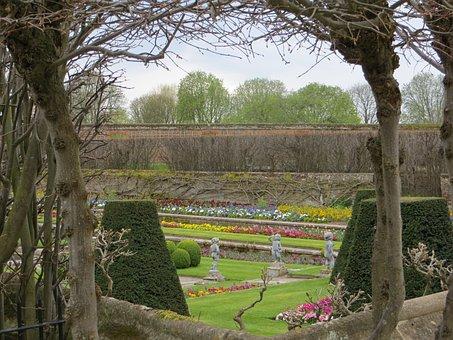 Garden, Spring, Flowers, Outdoors, Hampton, Court