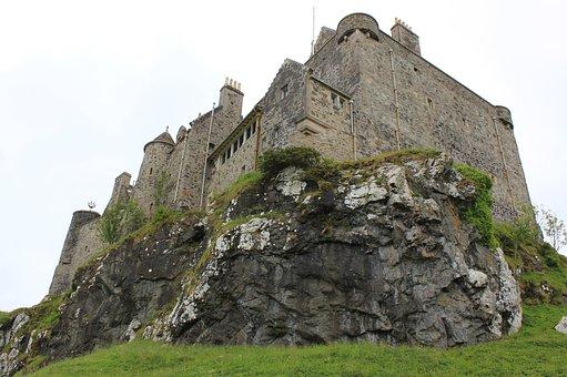 Castle, Duarte, Scotland, Ancient, Old, Historic