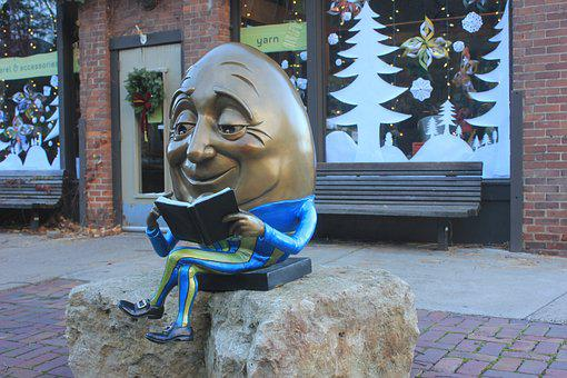 Humpty, Dumpty, Humpty Dumpty, Reading, Holidays
