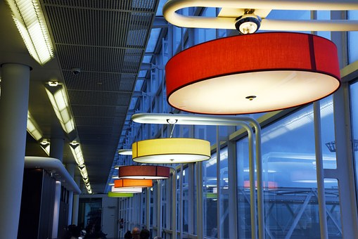 Light, Lamps, Orly Airport, Colors
