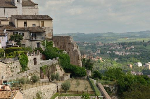 Narni, Italy, View, Country, City, Windows, Landscape