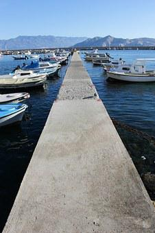 Mole, Web, Port, Boats, Concrete