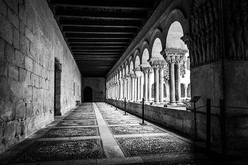 Monastery, Columns, Cloister, Silos, Spain, Medieval