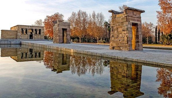 Spain, Madrid, Temple, Debod, Amon, Monument