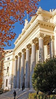 Spain, Madrid, Stock Exchange, Bolsa, Monument
