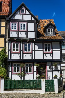 Building, Old, Fachwerkhaus, Quedlinburg, Old Town