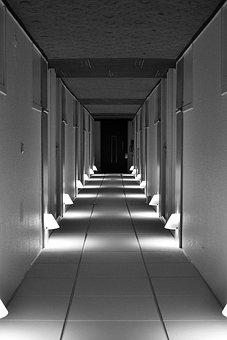 Hotel Hall, Passage, Hallway, Corridor, Interior, Empty