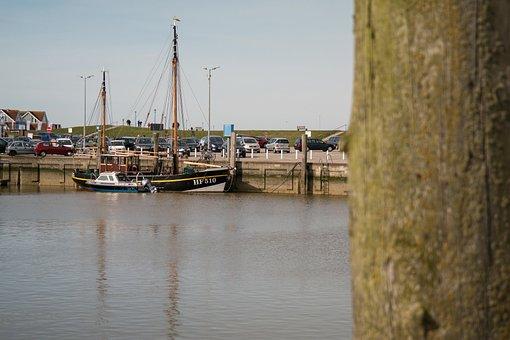 Boot, Port, Ship, Fishing Boat, Mast, Mirroring, Sea