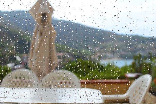 Rain, Exterior, Sea, Landscape, Sky, Italy, Nature
