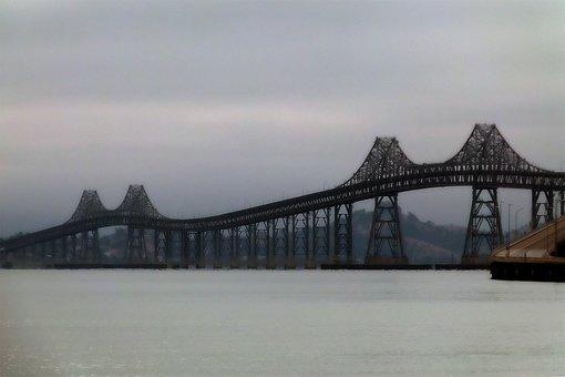 San Rafael Bridge, San Francisco, California, Usa, Iron