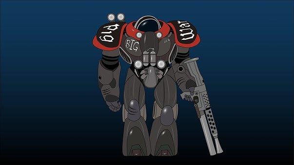 Starcraft, Marine, Spacesuit, Science Fiction, Scifi