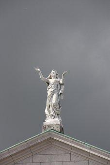 Statue, Holy, Church, Athlone, Church Peter Paul, Sky