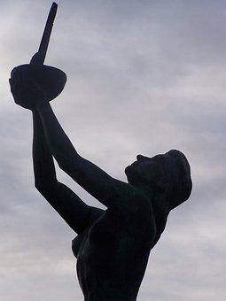 Angeles De San Rafael, Golf, Sculpture, Segovia, Spain