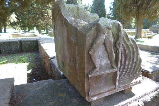 Ostia Antica, Italy, Archaeological Site, Ruins, Stone