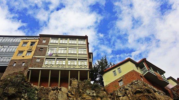 Architecture, Old Town, Abanotubani, Tbilisi, Georgia