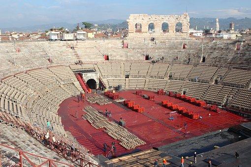 Arena, Verona, Veneto, Italy, Teatro, Romano, Europe