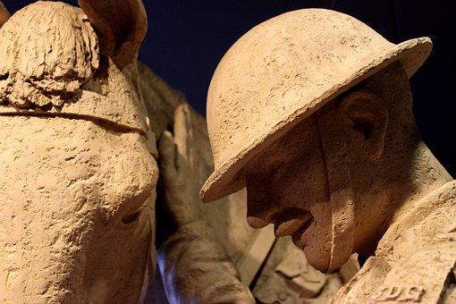 Soldier, Horse, Helmet, Rider, Man, Military, War