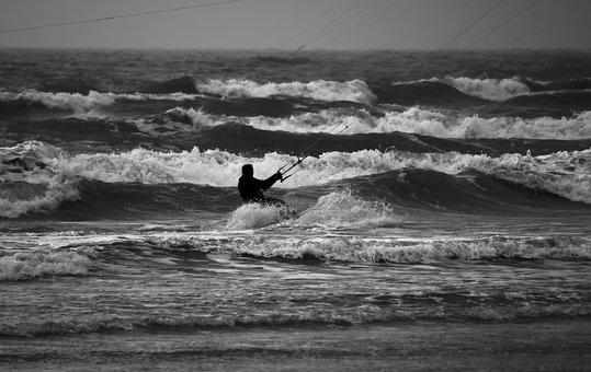 Kite Surfer, Waves, Water Sports