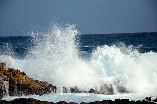Wave, Skimmings, Ocean, Spray, Rock, Seaside