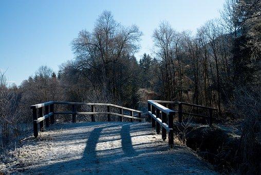 Bridge, Wooden, Rime, Wooden Bridge, Austria, Alps