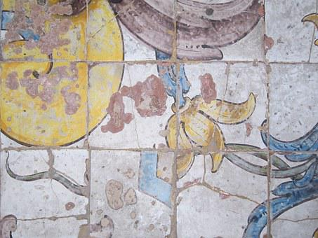 Old, Antique, Flow, Tile, Painted, Colorful, Craft, Art