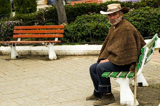 Old Age, Old, Boyaca, Park, Elder
