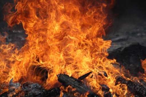 Fire, Bright, Spurts Of Flame