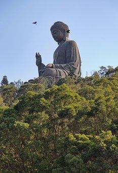 Buddha, Hong Kong, Lantau, Asia, Buddhism, Statue
