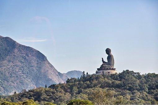 Buddha, Hong Kong, Asia, Statue, Buddhism, Travel