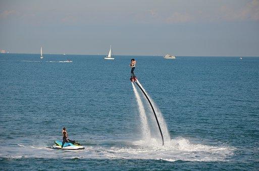 Flyboard, Water Sport, Water, Valencia, Mediterranean