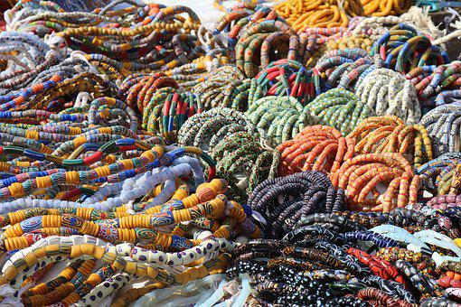 Beads, Pearl Necklace, Pearl Market, Africa, Ghana