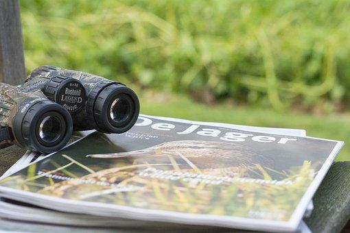 Hunting, Hunt, Binoculars, Wild, Search, Trace