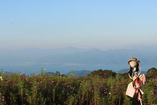 Lake Inawashiro, Nunobiki Plateau, Scarecrow