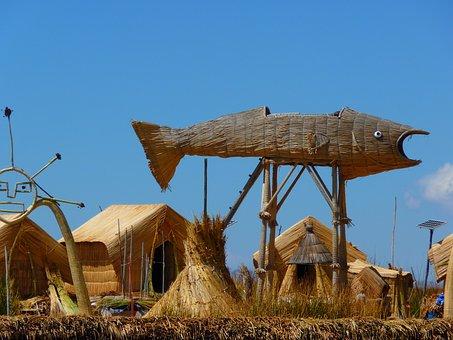 Reed, Totoraschilf, Reed Island, Rush, Lake Titicaca