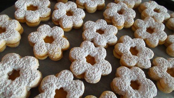 Linzer, Sweet, Cookie, Homemade, Baked, Sugar, Jam