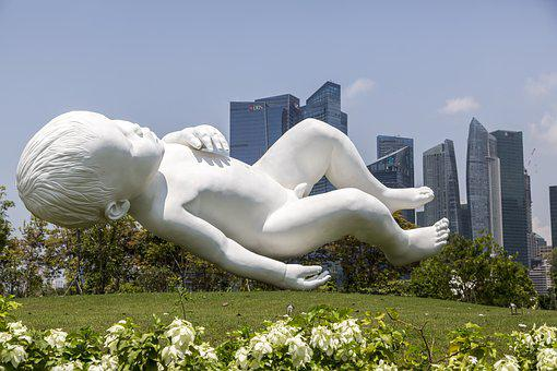 Singapore, Cityscape, Asia, Sculpture, Skyline, Marina