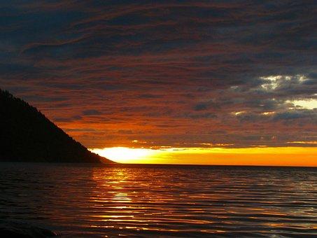 Baikal, Sunrise, Morning, Clouds, The Sun, Lake, Dawn