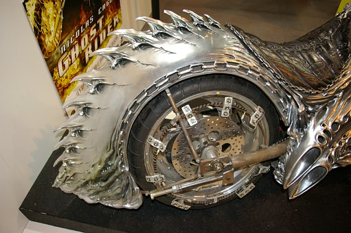 Ghost Rider, Motorcycle, Rear Wheel, Close Up, Drive