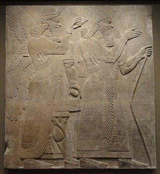 Assyrian, Relief, Ashurnasirpal, Palace, Museum