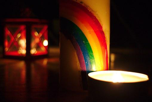 Light, Candle, Night, Rainbow, Relaxation, Candlelight