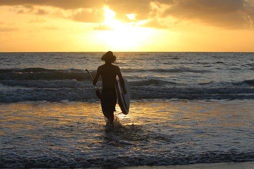 Sunrise, Surf, Eclipse, Australia, Port Douglas