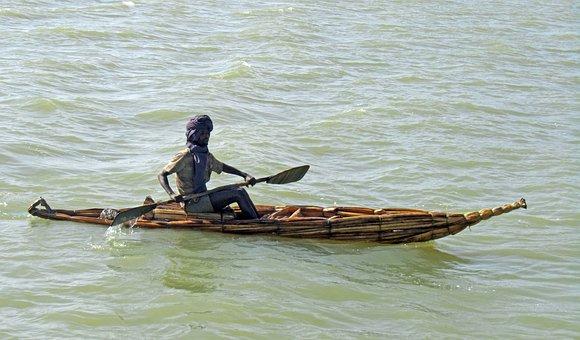 Ethiopia, Tana, Reed Boat