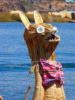 Reed, Totoraschilf, Rush, Boot, Lake Titicaca, Peru