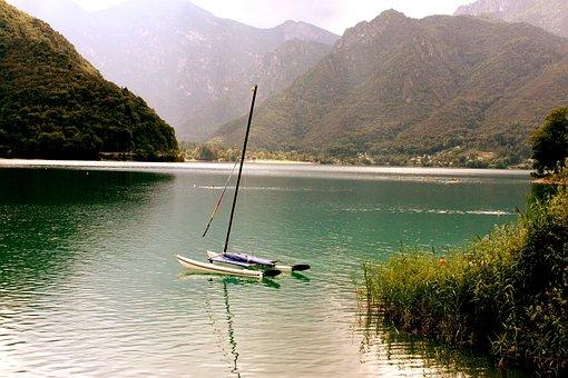 Water, Lake, Boot, Sailing Boat, Mast, Wood, Reed