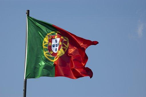 Flag, Portuguesa, Portugal, Sky, Blue, Blue Sky, Wind