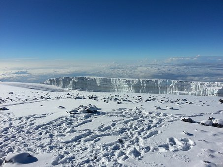 Kilimanjaro, Mount, Snow, Snowclad, Adventure, Bue Sky